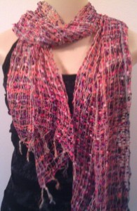 Woven scarf in soft colours to suit all styles and ages