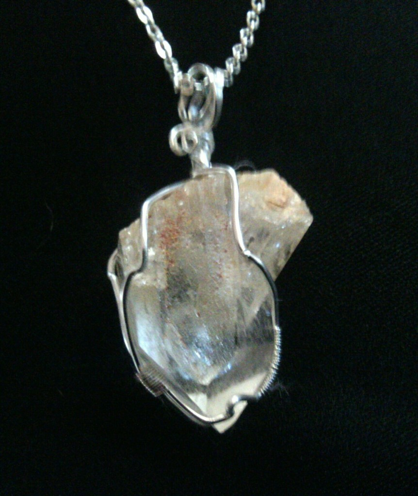 Crystal Pendant angular set in silver #Crystalpendant #crystals #crystalhealingstone