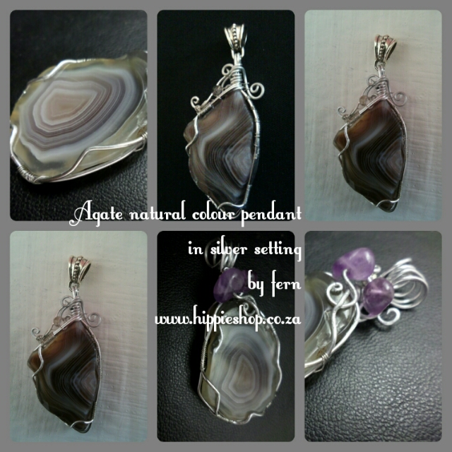Agate collection Pendants set in silver #agatependant #agatespecial #agatejewelry #agatejewellery Brown Agate pendants