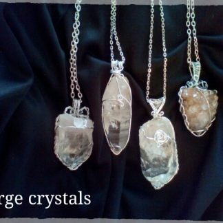 Large Crystal Pendants. Natural stone, not touched by machine. 5-7cm long.benefits, Cleansing and Calming to wear