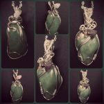 "Aventurine Stone pendants, other name 'Fairy Treasure"" Prosperity, Birthstone August to October"