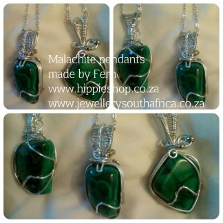 Malachite Pendants, benefits Reverse Stress and Fears, Grounding Green connection to mother earth