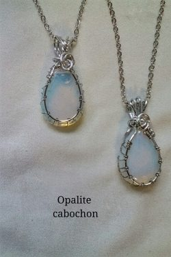 2. Opalite cabochon pendant. Beautiful with highlights
