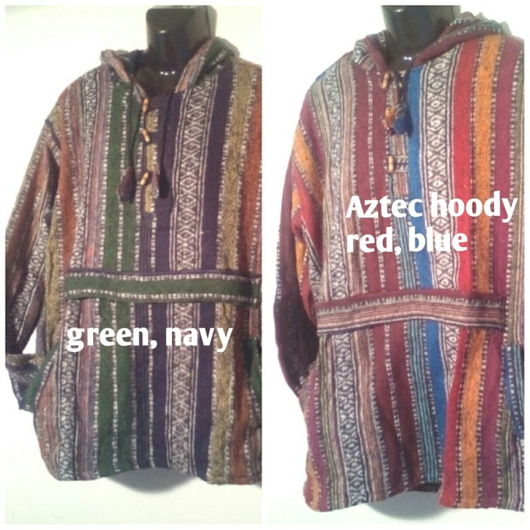 Aztec Hoody, Hoodie Jacket. Striped Brushed Weave Jacket. Bohemian Jacket, super warm - large sizes