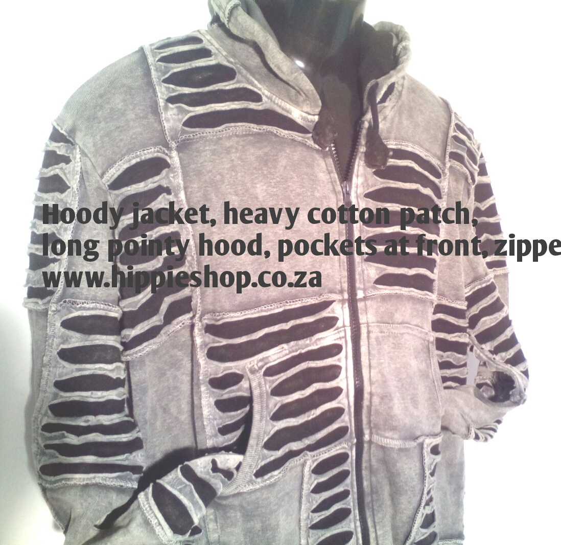 Grey Mountain Hoodie JACKET - Heavy Cotton Patch, large sizes