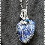 5. Blue Sodalite silver net setting 1-2cm with cord or chain