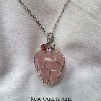 2. Rose quartz Pendant, made in South Africa