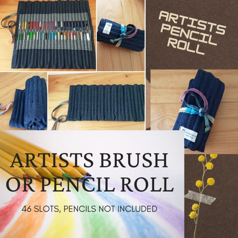 Artists Pencil Roll - Large, 46 slots, Open, ready to use.